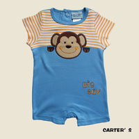 hot sale 2014 new summer baby clothes girl boys Strap Cartoon short sleeves jumpsuit baby rompers