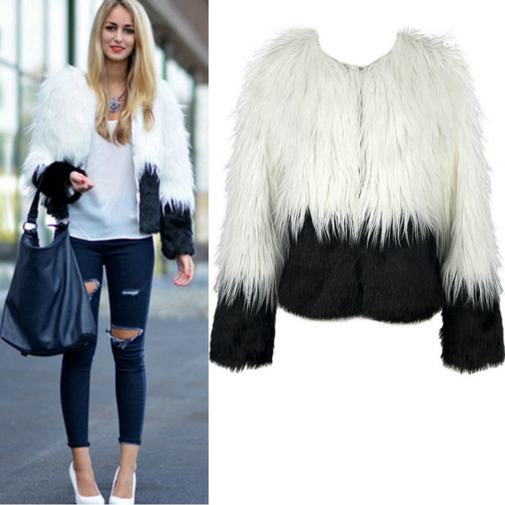 White Faux Fur Coat Womens