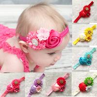 Drop Shipping1PCS Hair Accessories Baby Flower Headband Baby Girls Children Headbands Accessories Christmas Gifts