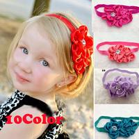 Drop Shipping1PCS Europe Style Baby Children Girl Satin Flower Hair Accessory Band Headband Photo Prop Headwear