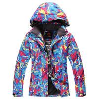 Outdoor sports Mountaineering wear Ski Coat Men High quality Waterproof  Thickening Keep warm Ski Jacket Women 001 Free shipping