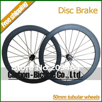 2014 New Disc Brake Hub 700c road bicycle carbon wheels 50mm tubular including Skewers