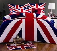 Newest Arrivals bed linen British Union Jack Flag 4pcs queen/full comforter/duvet covers bedding sets Wholesale