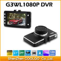100% Original Car Camera G3WL 2.7 inch Screen Full HD1080P Night Vision G-Sensor Car DVR Novatek Chipset Video Recorder