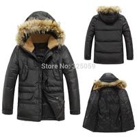 Men's Down Parka 2014 Fashion Men Down Jacket Winter Hooded Outdoor Coat