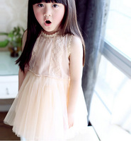 5pcs/Lot Baby & Kids Girl Summer Dress + Cotton Yarn dress, Summer Baby Girls Dress , Girls Lace princess dress GQ-408
