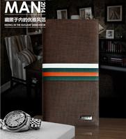 2014 Designer's men's long wallets Brand Contrast color high-grade wallet top purse coin bag promotion free shipping