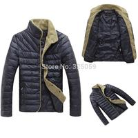 2014 Fashion Winter Duck Down Jacket Men Plush Size Overcoat Casual Windproof  Jacket Coat