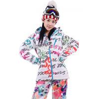 Hot sale Winter Outdoor sports Fashion Ski Coat High quality Waterproof Thickening Keep warm Women Ski Jacket 030C Free shipping