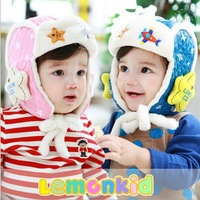 The new high-end fashion winter thick warm wool hat  children color cute style hat   Free Shipping QX-055