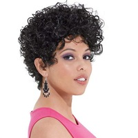 New! African American Wigs, Short Curly Afro Wigs For Black Women Free Shipping