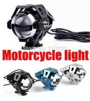 Hot 125W CREE U5 LED Spot Fog Light Motor Motorcycle Motorbike E-bike Car Truck Waterproof headlight driving flash lamp 12-80v