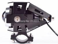 BLACK 12V-80V 125W CREE U5 LED Laser Gun Day Light Motorcycle headlight Car waterproof Spot Light chrome projector Fog light
