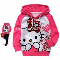 Fashion Baby Cartoon T-shirt Girl's Hoodies Children Long Sleeve Shirts Kids Hooded Sweater