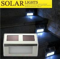 3LED solar Led Fence light lamp outdoor Landscape Garden Path Wall Light Lamp solar stair light white/red/green/blue/orange/rgb