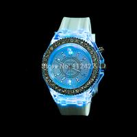 Fashion watch for women men diamond watches Woman quartz watch noctilucent fuction LED Men women Silicone dress watches-XG008
