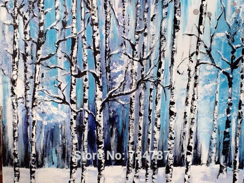 Oil Paintings of Birch Trees Birch Tree Wall Oil Paintings