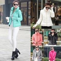 2014 Brand New Winter Hoodie down Jacket Ladies Sport Sportswear Clothes Women Slim Solid Zipper Winter Jacket Outerwear