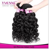 Grade 6A Italian Curly Peruvian Virgin Hair,3Pcs/lot Natural Human Hair Weave,12-28 Inches Aliexpress Yvonne Hair,Color 1B