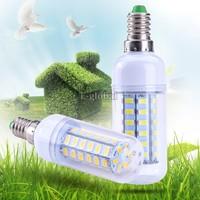 2014 New Fashion 1Pcs SMD 5730 E14 LED lamp,Ultra Bright E14 48 LED 9W 5730-SMD Corn Light Bulb Lamp AC 220-240V SV18 SV010559