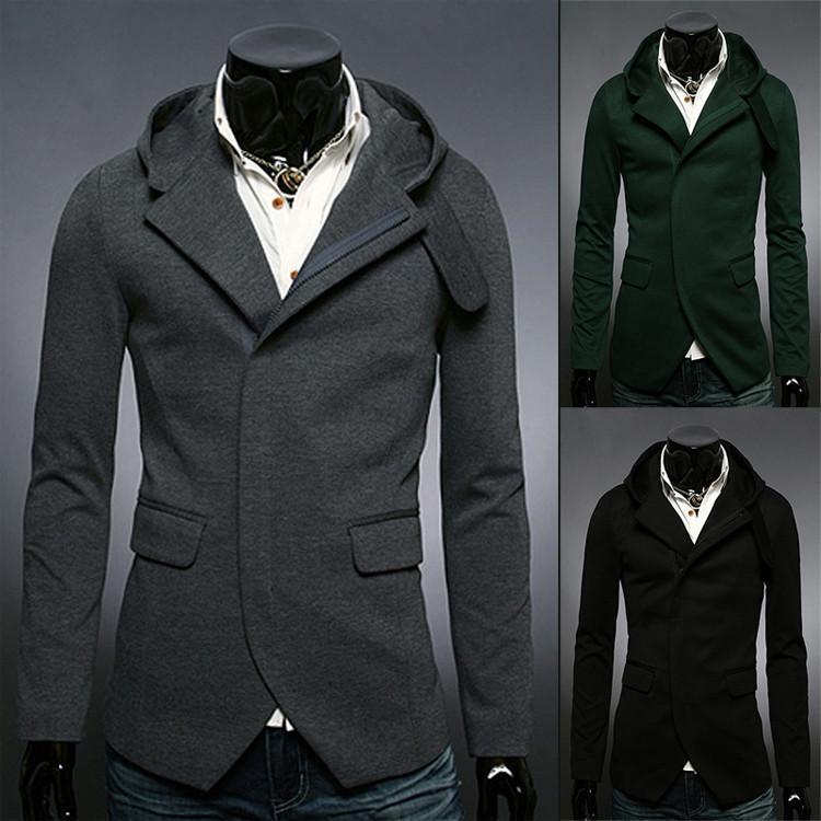 HOT! 2014 New Spring Autumn Casual Slim Fit Mens Jackets & Coats Outdoor Windbreaker Cardigan Hoodie Man Jacket Casaco Masculino(China (Mainland))