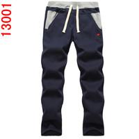 free shipping new 2014 autumn men leisure sweatpants male cotton pants plus-size men's thick trousers