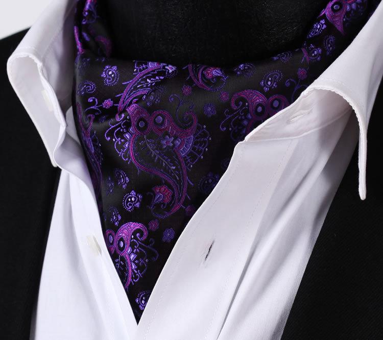 Purple Paisley Suit Purple Black Paisley