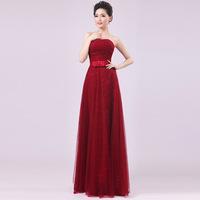 7 color HOT women party dress 2014 new floor length women wedding dress sister group women bridesmaid dress S-XXL