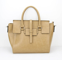 H039(khaki)PU Handbag, Various Sizes and Colors Available, OEM Designs Welcomed,Free shipping