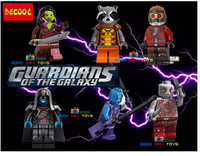 PRE-SALE 6pcs Guardians of the Galaxy figures Rocket raccoon ronan/camora/star lord Building BlockToys Compatible for Lego