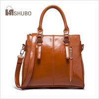 SHUBO Women Brand Bags 2014 Fashion Casual Genuine Leather Bag Womens Portable Shoulder Bag Tote Messenger Handbags Bolsas SH082