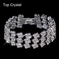 High quality Austrian crystal women jewelry New hot sell fashion Multilayer shiny rhinestone bracelet Wholesale 2014 M16