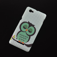 1pcs Shy Owl Cartoon Lovely Soft TPU Protective Skin Cover Case for For Sony Xperia M C1905 C1904 phone case
