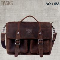 New arrival genuine leather designer handbags ,men cowhide messenger bags vintage shoulder bags L133AT01