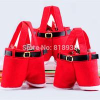 50pcs/lots Creative Christmas Candy Bag Christmas Bag Christmas Decoration Supplies Santa Bag for candy Gift for kids  gift