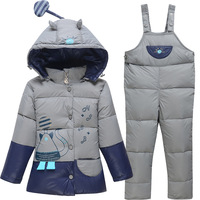 Cartoon Clothing Set Coat Pant Winter Baby Boy Kids Girl Duck Down Coat Jacket Pants Trousers Girls Clothes Clothing Sets