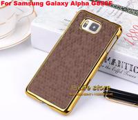 3D Snake Design Cover Mobile Phone Case Aluminum Hard Cover Case For Samsung Galaxy Alpha SM-G850