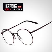 2014 New Fashion Anti-Radiation myopia round glasses  PC Computer Protective Plain lenses Women Decorative Glasses