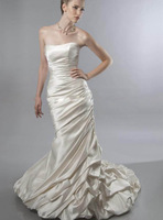 NEW Elegant Mermaid sweetheart off the shoulder sleeveless Stain Bridal Gowns Wedding Dress 2014 NEW CUSTOM MADE SIZE&COLOR