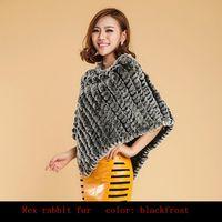 PROMOTION ON SALE 2013 Rabbit Fur Shawl Women Hot Style Retail Wholesales Natural Rabbit Fur Poncho