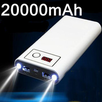 20000mAh Power Bank For iphone ipad ipod Samsung Galaxy S5 S4 S3 Xiaomi Nokia HTC Mobile Phone Portable Charger External Battery