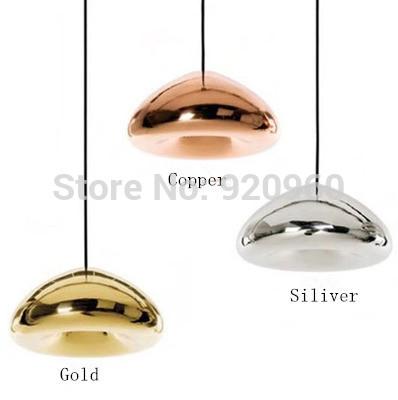 Tom Dixon void light Minimalist Modern Creative Art Glass Lamp Brass bowl Pendant Light Restaurant Cafe Bar Station Lamp(China (Mainland))
