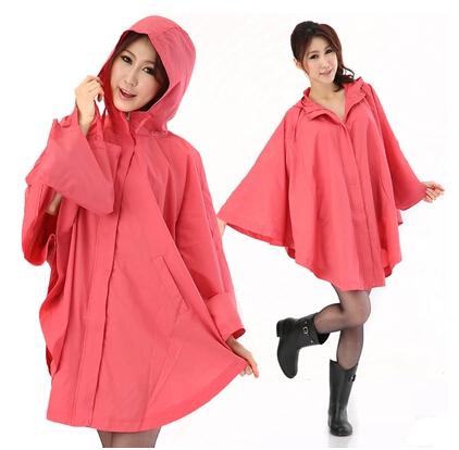 2014 Fashion cloak raincoat women rain wear trench coat female waterproof breathable thin rain ponchos long travel capa de chuva(China (Mainland))