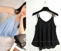 Free Shipping 2014 New Korean Fashion Women Ladys summer Chiffon vest tank tops