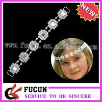 (50 pieces/lot) Shining hot sale fashion rhinestone bikini connector for swimsuit ,silver base,Free Shipping