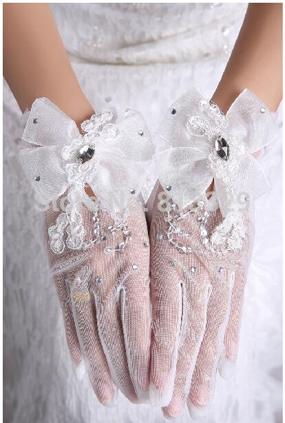 Свадебные перчатки  xi xi hun shi 007