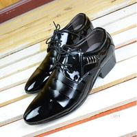 Free shipping men dress shoes leisure British point light leather men's shoes suit euro stylist wedding shoes
