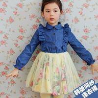 Fashion Girl Tulle Dress Princess Kids Clothes Girls Roupa Vestidos Infantis Children Clothing Girls WB-20