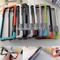 9 Colors TPU Bumper for iPhone 6 4.7 5.5 inch  iphone6 TPU + Silicone bumper anti knock for iphone6 plug High Quality