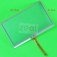 "Free Shipping 4.3"" inch Touch Screen Panel Glass For Weintek HMI MT505T MT6050I MT6050i"
